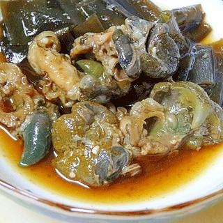 おつな酒肴☆ 「アワビ肝と昆布の醤油煮」