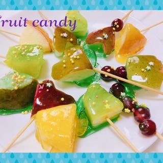 子どもと作ろう❤️かき氷シロップでフルーツ飴