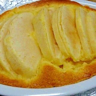 グラタン皿で焼く林檎のアーモンドケーキ