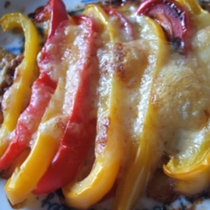 パプリカのチーズ焼き
