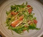 水菜とトマトの中華和え