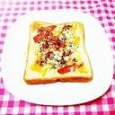 マーマレードとベーコンのチーズトースト