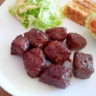 ひき肉でステーキ(^^)
