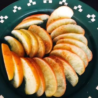 砂糖なし ホットリンゴ レンジで調理