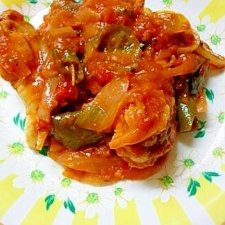 ☆鶏手羽元と夏野菜のトマト煮☆