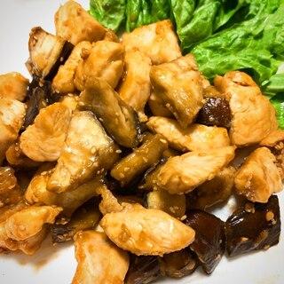 *鶏むね肉となすの甘酢炒め*