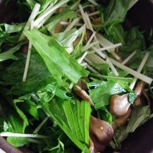 ベーコンとエリンギのマリネ風サラダ