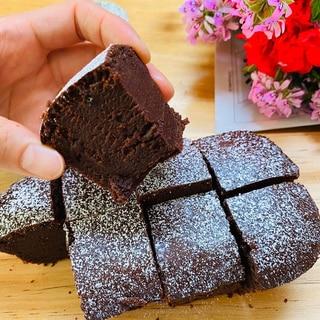 米粉モッチリやわらかい生チョコレートブラウニー