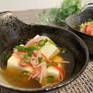 カニカマあんかけ豆腐♡
