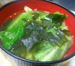 しゃきしゃき*レタスわかめスープ