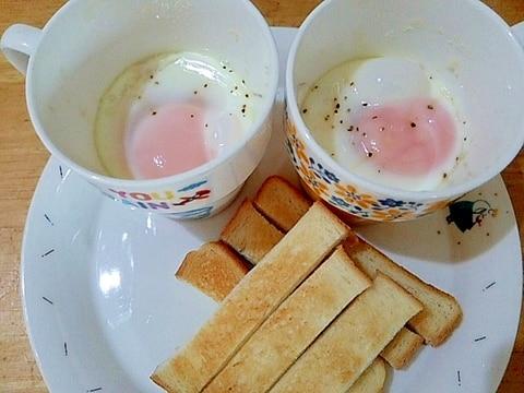 マグカップで簡単エッグスラットの朝ごはんプレート