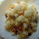 マヨ&生姜で❤竹輪&Qちゃん&ネギ&コーン炒飯