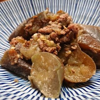 茄子と牛挽き肉煮