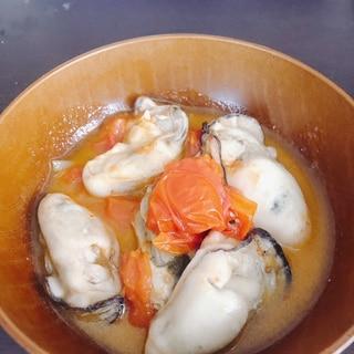 牡蠣でアクアパッツァ風⭐️