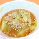 ちょっと韓国風(^^)キャベツと豚ひき肉の味噌汁♪
