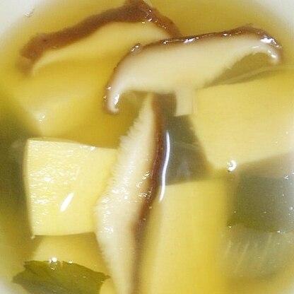 簡単!高野豆腐と椎茸のこくうまスープ
