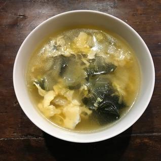 手抜き 業スー姜葱醤で直ぐできるコンソメスープ