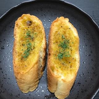 《グリルで簡単》カレー味トースト
