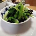 作り置きお浸し★小松菜と韓国のり