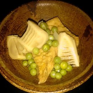 えんどう豆と筍の煮物