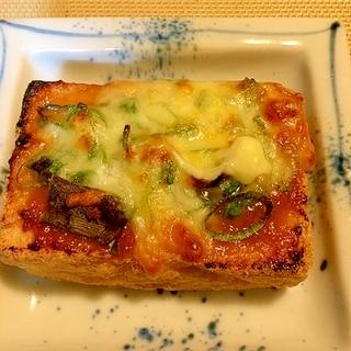 簡単に&おつまみ☆厚揚げの味噌チーズ焼き