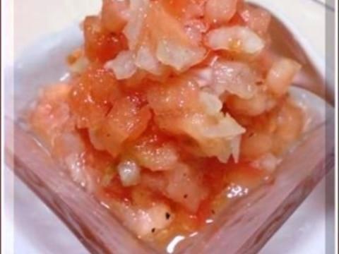 **トマトと玉ねぎのサルサ♪ **