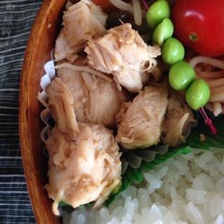 お弁当  レンジ蒸し鶏のナムル:723