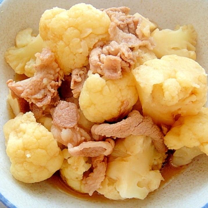 カリフラワーと豚肉のあっさり煮