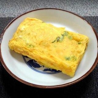 永谷園のわかめスープの素とみりんで作る卵やき