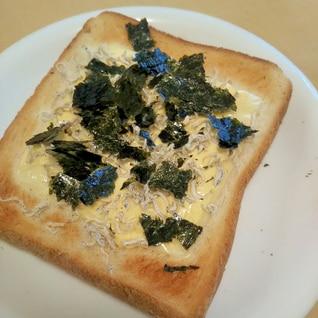 カルシウム摂れる、じゃこのりトースト