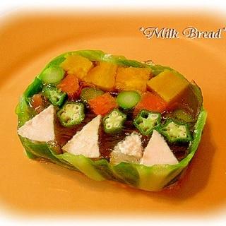 野菜とハムのキラキラ宝石箱テリーヌ