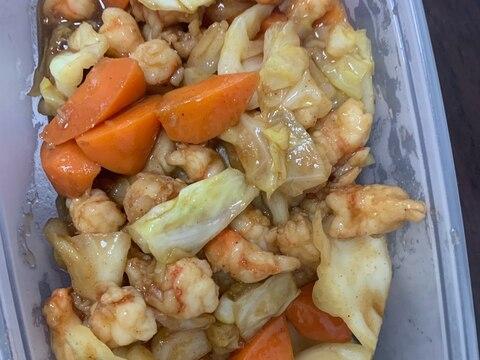 台湾風野菜と海老炒め