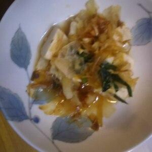 簡単美味しい!キャベツと豆腐のツナチャンプルー