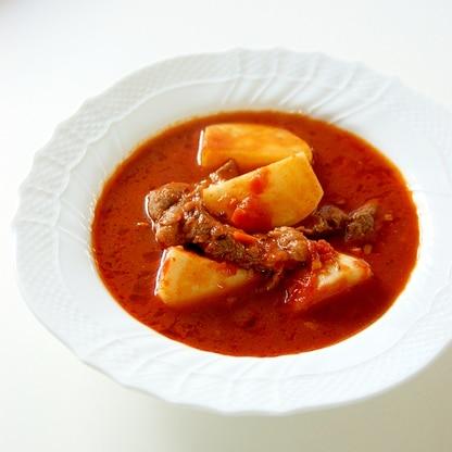 牛肉とかぶのトマト煮込み