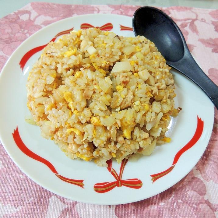 簡単!シンプルで美味しい☆シイタケ チャーハン