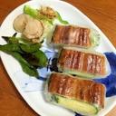 鰻の蒲焼の生春巻き