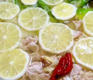 豚と白菜のレモン鍋【鶏がら塩糀スープが決め手!】