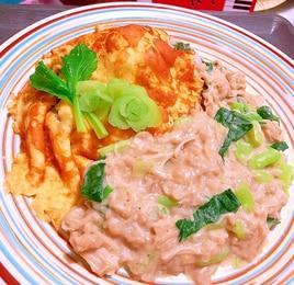 蕎麦クリームオムライス