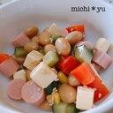 蒸し豆とチーズのカラフル中華サラダ