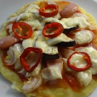 小麦粉なし♪発酵なしのじゃがいも餅ピザ