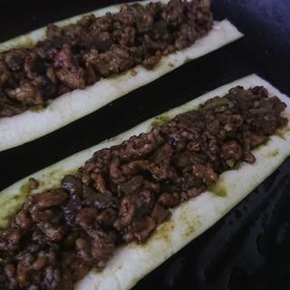 ナスの納豆肉味噌グリル