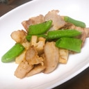蓮根とスナップエンドウの炒め物