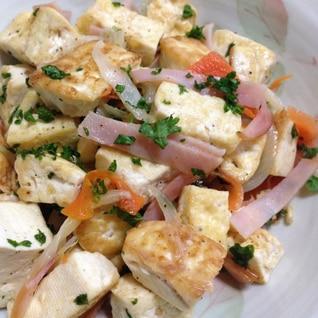 冷めても美味!豆腐と野菜の炒めもの