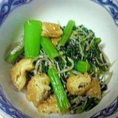 小松菜と小揚げの炒め物