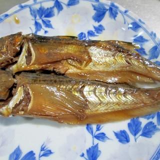 ハタハタの煮魚(圧力鍋使用)