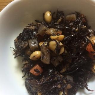 麺つゆで簡単!ひじき と大豆の煮物