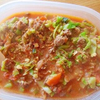 牛挽肉とキャベツと人参トマトのボルシチ