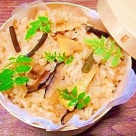 筍とワラビ☆モチ米入り炊き込みご飯