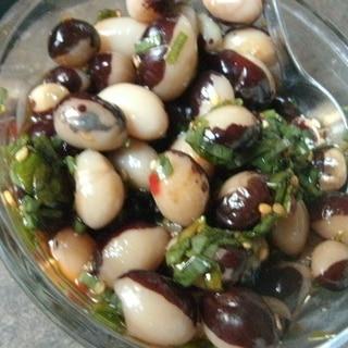 パンダ豆のピリ辛中華和え