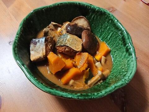 缶詰レシピ★サバ味噌煮缶でかぼちゃと甘煮